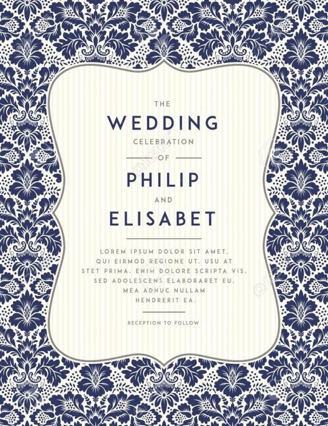 Vintage Wedding Invitation Templates Vintage Wedding Invitation Template Vintage Design Wedding