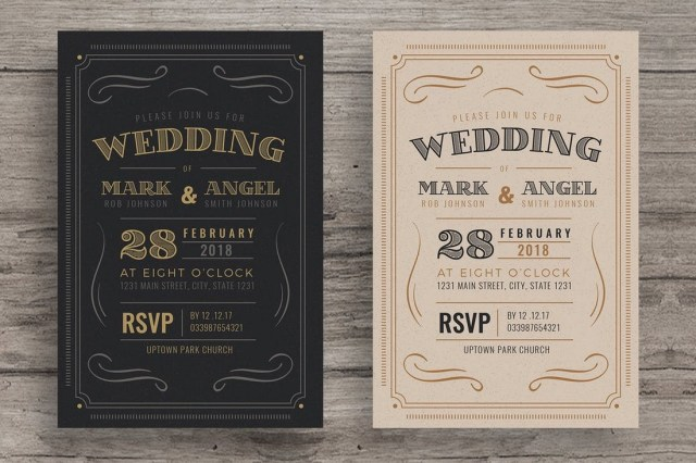 Vintage Wedding Invitations 50 Wonderful Wedding Invitation Card Design Samples Design Shack