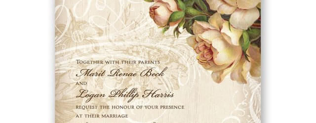 Vintage Wedding Invitations Boho Flowers Invitation Invitations Dawn