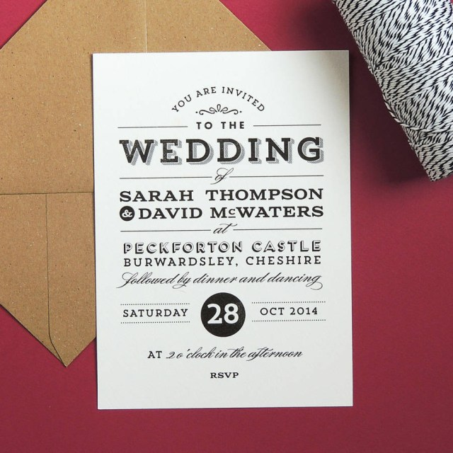 Vintage Wedding Invitations Frankie Vintage Style Wedding Invitation Project Pretty