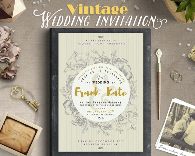 Vintage Wedding Invitations Retro Vintage Style Wedding Invitation Design Lavie1blonde On