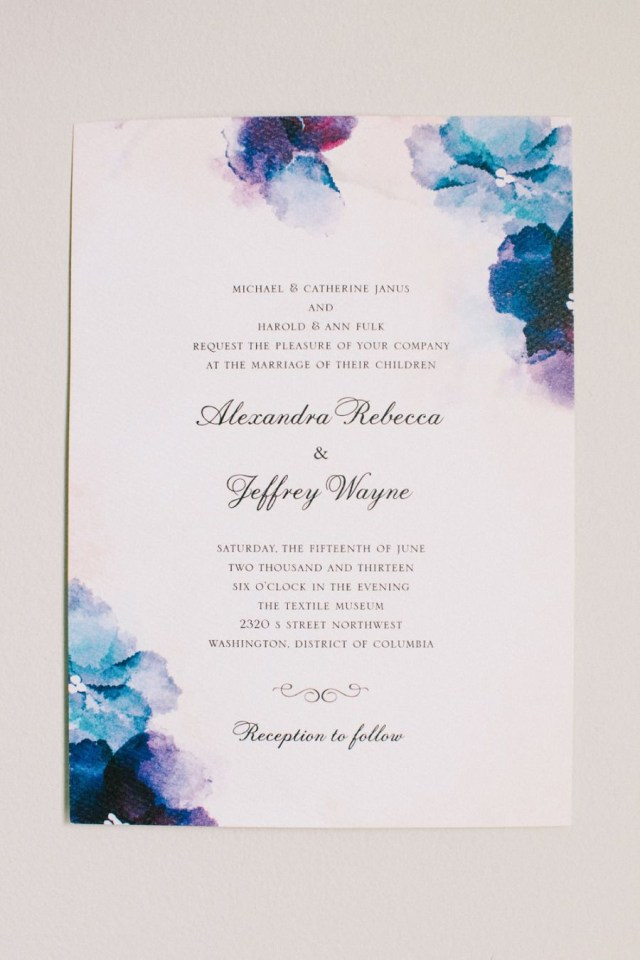 Watercolor Wedding Invitations Dc Garden Wedding With Pops Of Color Art Wedding Invitations