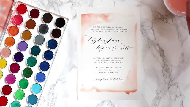 Watercolor Wedding Invitations Diy Watercolor Wedding Invitations Youtube