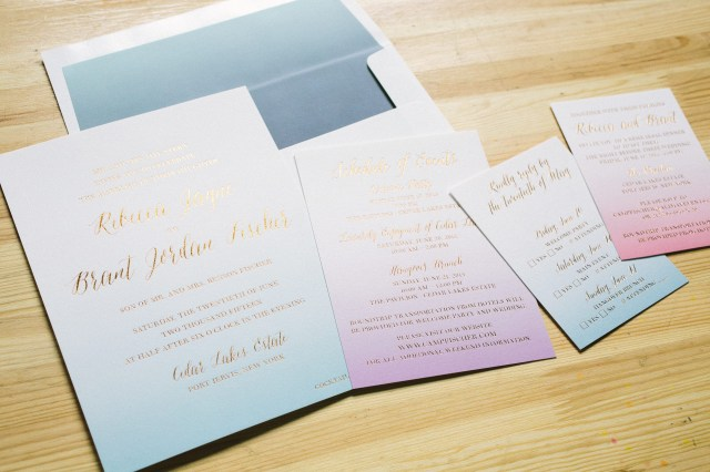 Watercolor Wedding Invitations Foil Digital Watercolor Wedding Invitations Bella Figura
