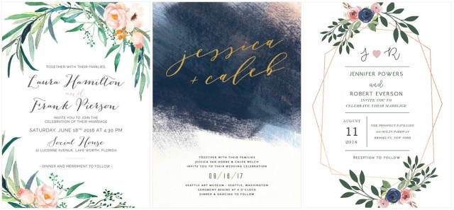 Watercolor Wedding Invitations The Coolest Watercolor Wedding Invitations Of Different Styles