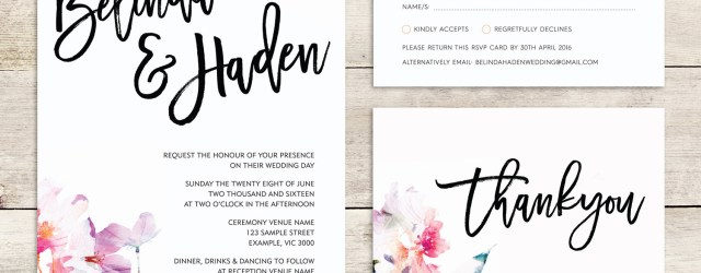 Watercolor Wedding Invitations Watercolor Wedding Invite Multicolor Wedding Invitations Etsy