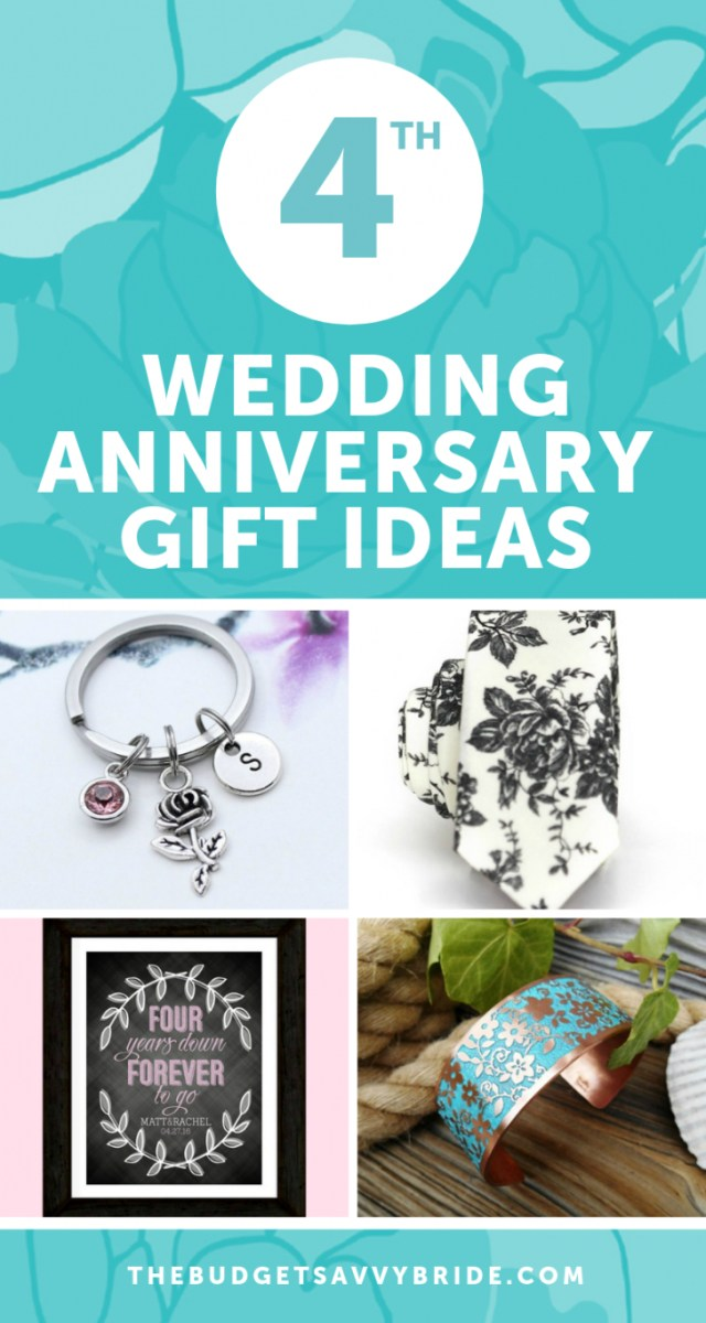 Wedding Anniversary Ideas Fourth Wedding Anniversary Gift Ideas