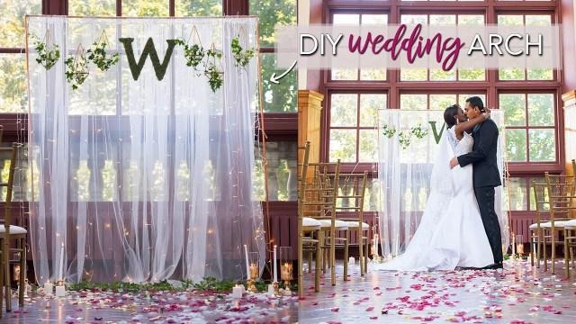 Wedding Backdrop Ideas Diy Wedding Ceremony Backdrop Easy No Tools Required Youtube