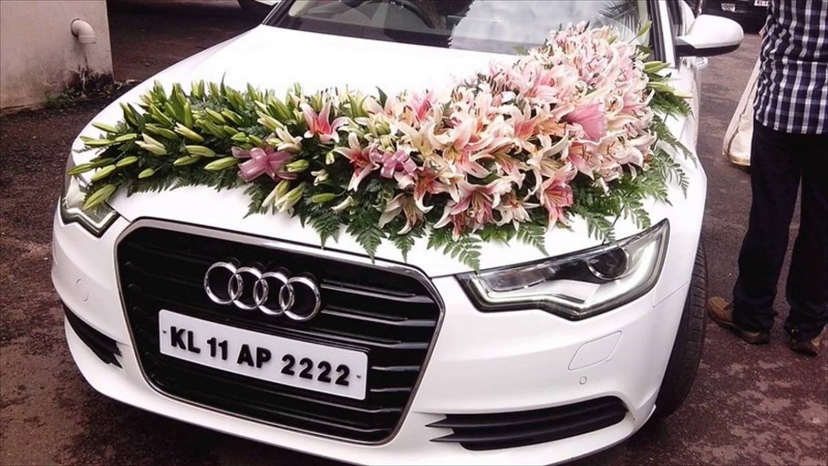 Wedding Car Decorations Ideas Wedding Car Decoration With Flowers