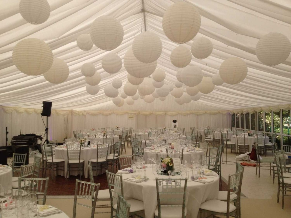 Wedding Ceiling Decorations Paper Lanterns Wedding Decorations Beautiful Cluster Of White Cream