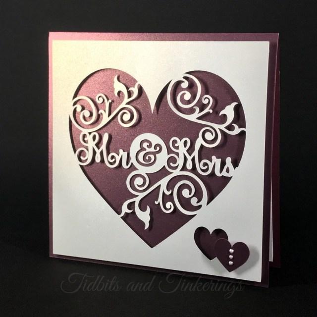 Wedding Cricut Projects Mr Mrs Heart Flourish Newlyweds Wedding Card Tidbits And