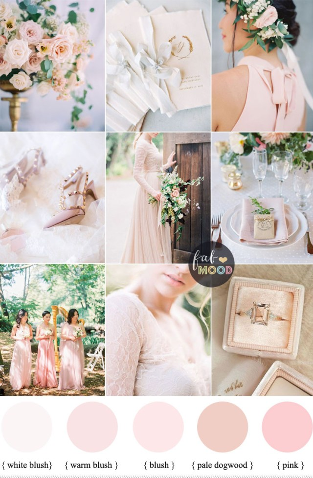 Wedding Decorations Colorful Blush Pink Wedding Theme 36 Pretty Blush Pink Color Combinations