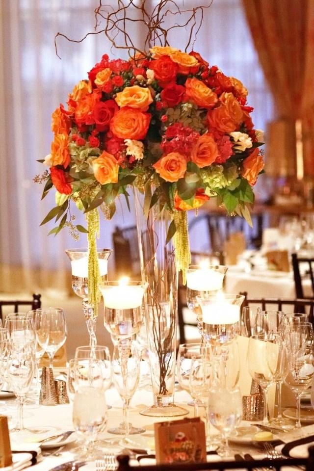 Wedding Decorations For Fall Fall Wedding Decorations Fall Wedding Centerpieces In Red Yellow And