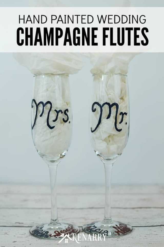 Wedding Gift Ideas Diy Hand Painted Champagne Flutes Easy Wedding Gift
