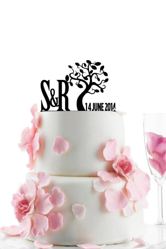 Wedding Initial Decor Custom Wedding Cake Topper Personalized Monogram Cake Topper