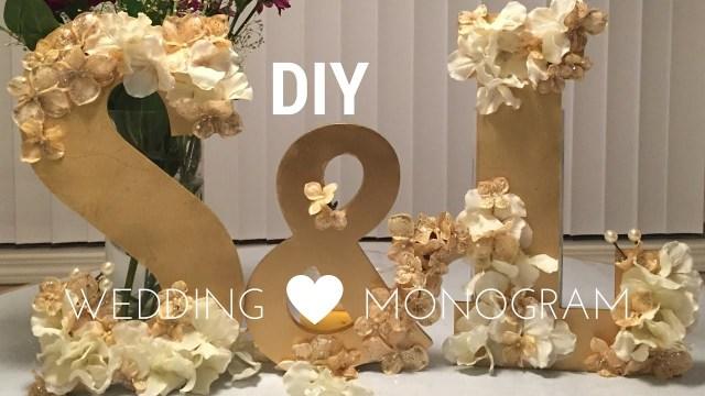 Wedding Initial Decor Diy Wedding Decorations Wooden Monogram Set Tutorial Youtube