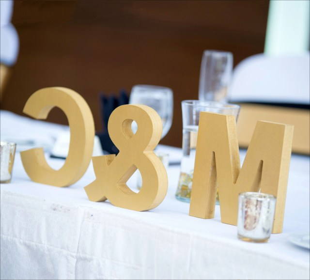 Wedding Initial Decor Personalized Wedding Decor Beautiful Wooden Letters Freestanding