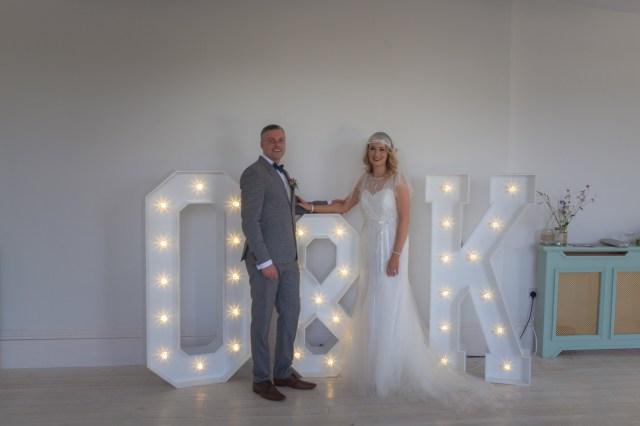 Wedding Initial Decor Wexford Light Up Letters Weddings Ireland 1 Giant Wedding