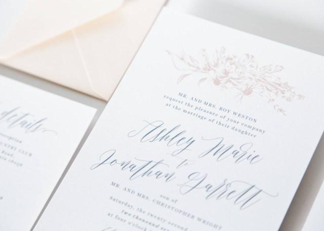 Wedding Invitation Bundles Dusty Blue Wedding Invitation Package Fresh Cut Prints
