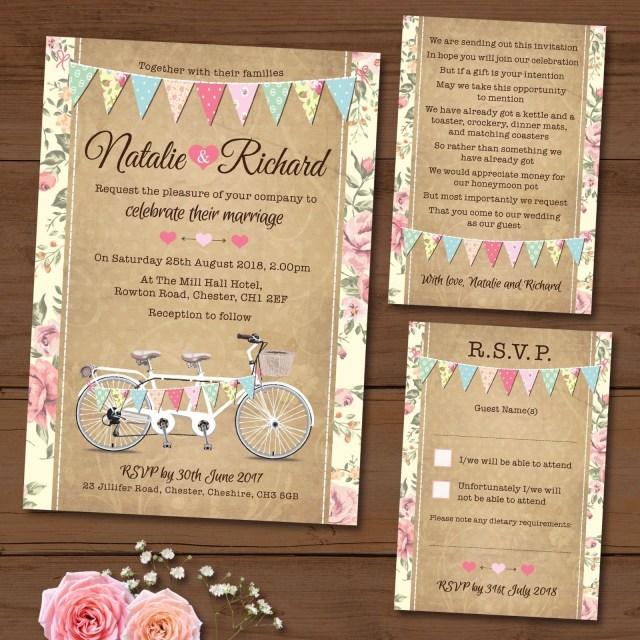 Wedding Invitation Bundles Package Deal Wedding Invitation Rsvp Gift Poem Card Tandem
