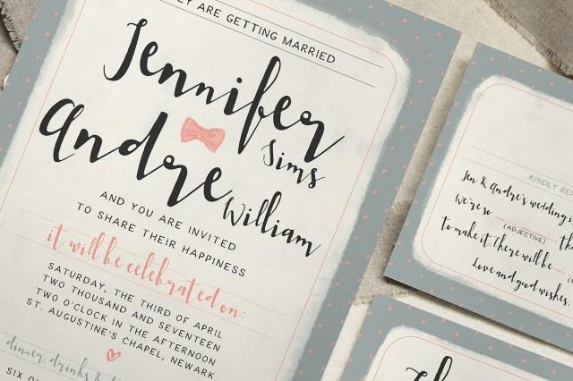 Wedding Invitation Bundles Polka Dot Wedding Invitations Sweet Polka Dots Wedding Invitation