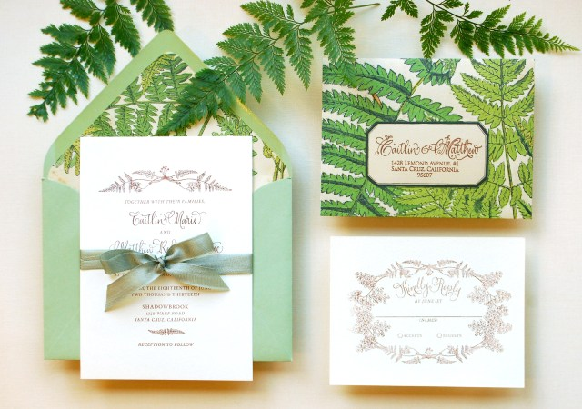 Wedding Invitation Diy Diy Tutorial Vintage Fern Wedding Invitations