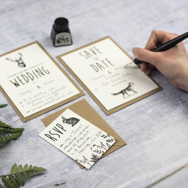 Wedding Invitation Diy Enchanted Forest Diy Wedding Invitation Set