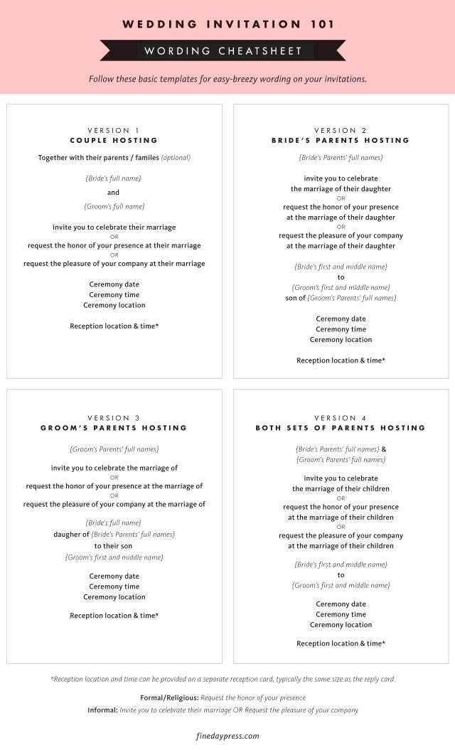 Wedding Invitation Example Wedding Invitation Wording And Etiquette