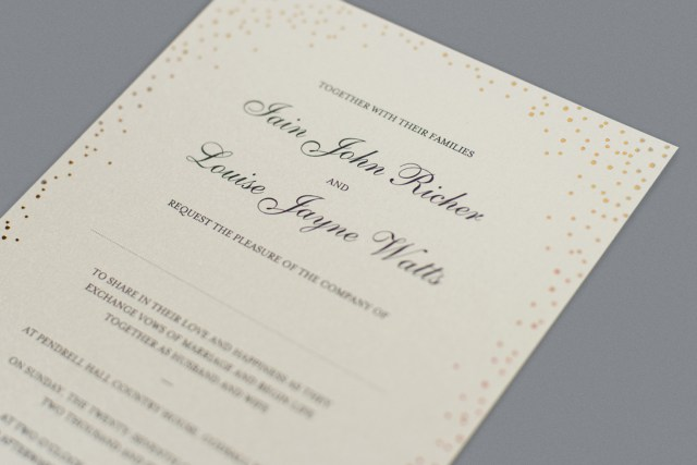 Wedding Invitation Example Wedding Invitation Wording How To Get It Right Foil Invite Company