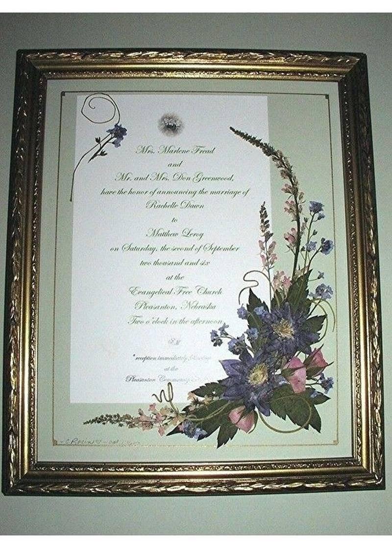 Wedding Invitation Keepsake 206458 Wedding Invitation Keepsake 282 Invitations Framed Keepsake