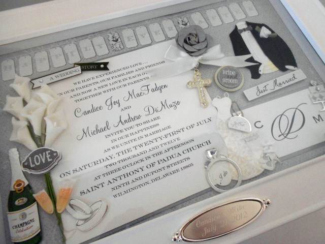 Wedding Invitation Keepsake Elegant Wedding Wedding Invitation Keepsake Box With Engraved Name