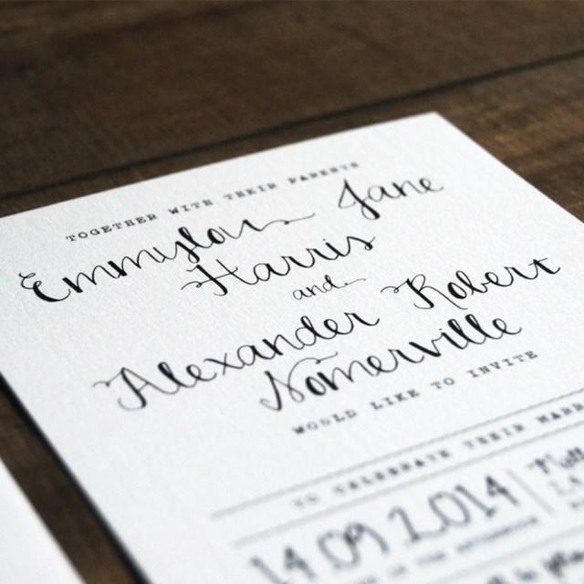 Wedding Invitation Paper Calligraphy Wedding Invitation Stationery Feel Good Wedding