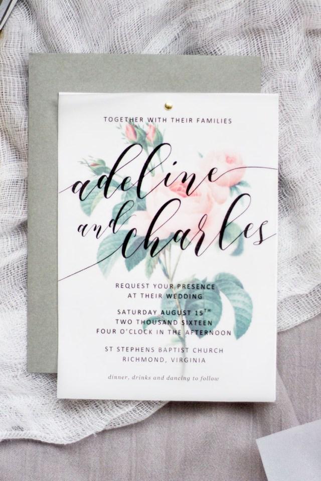 Wedding Invitation Paper Diy Floral Wedding Invitations Pipkin Paper Company