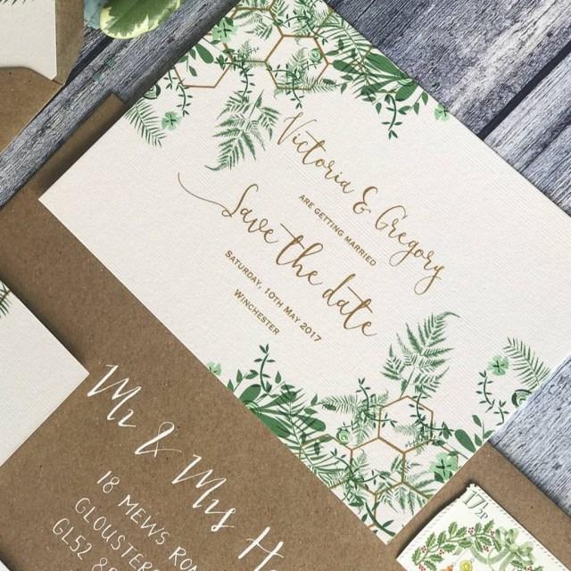 Wedding Invitation Paper Geo Botanica Wedding Invitation Geri Loves Emi Paper Co