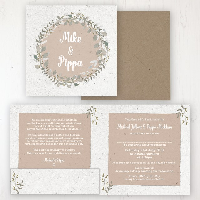 Wedding Invitation Pockets Botanical Garden Wedding Invitations Sarah Wants Stationery