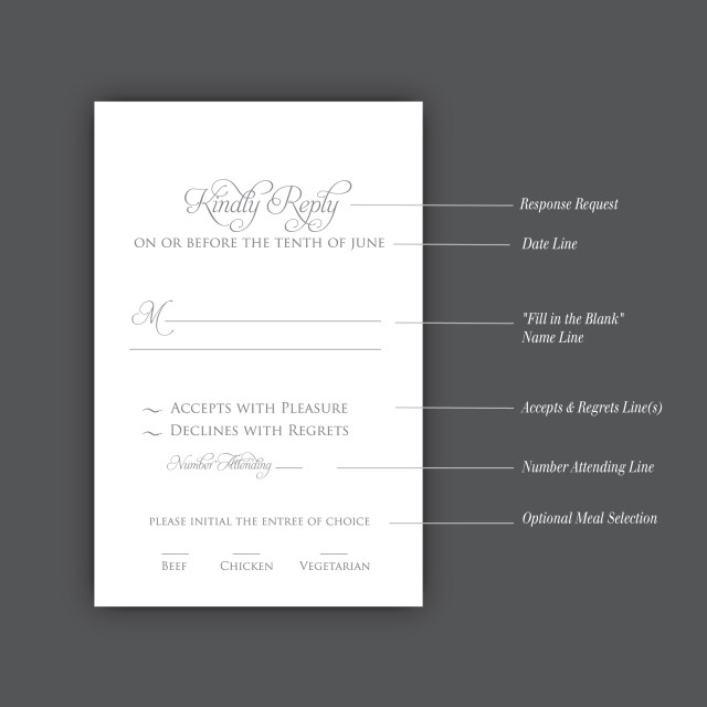 Wedding Invitation Rsvp Wording How To Correctly Word Your Wedding Rsvp Card Meldeen