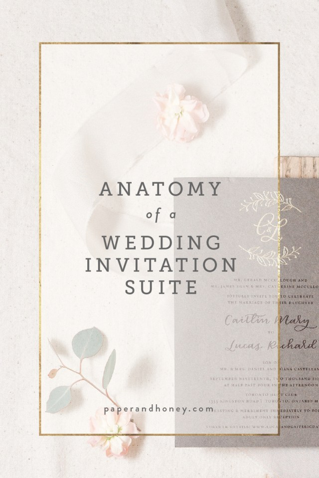 Wedding Invitation Suite Anatomy Of A Wedding Invitation Suite Paperandhoney