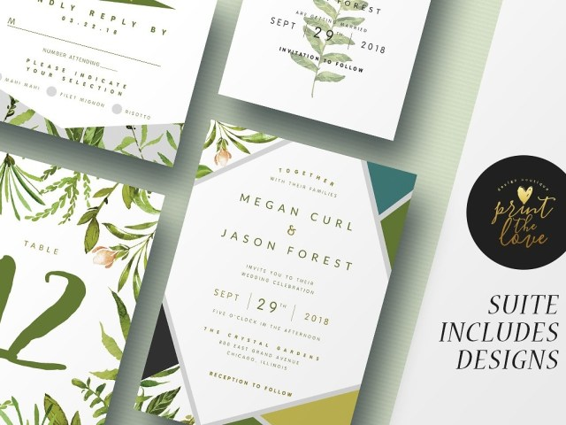 Wedding Invitation Suite Wedding Invitation Suite Botanika Invitations Dribbble Dribbble