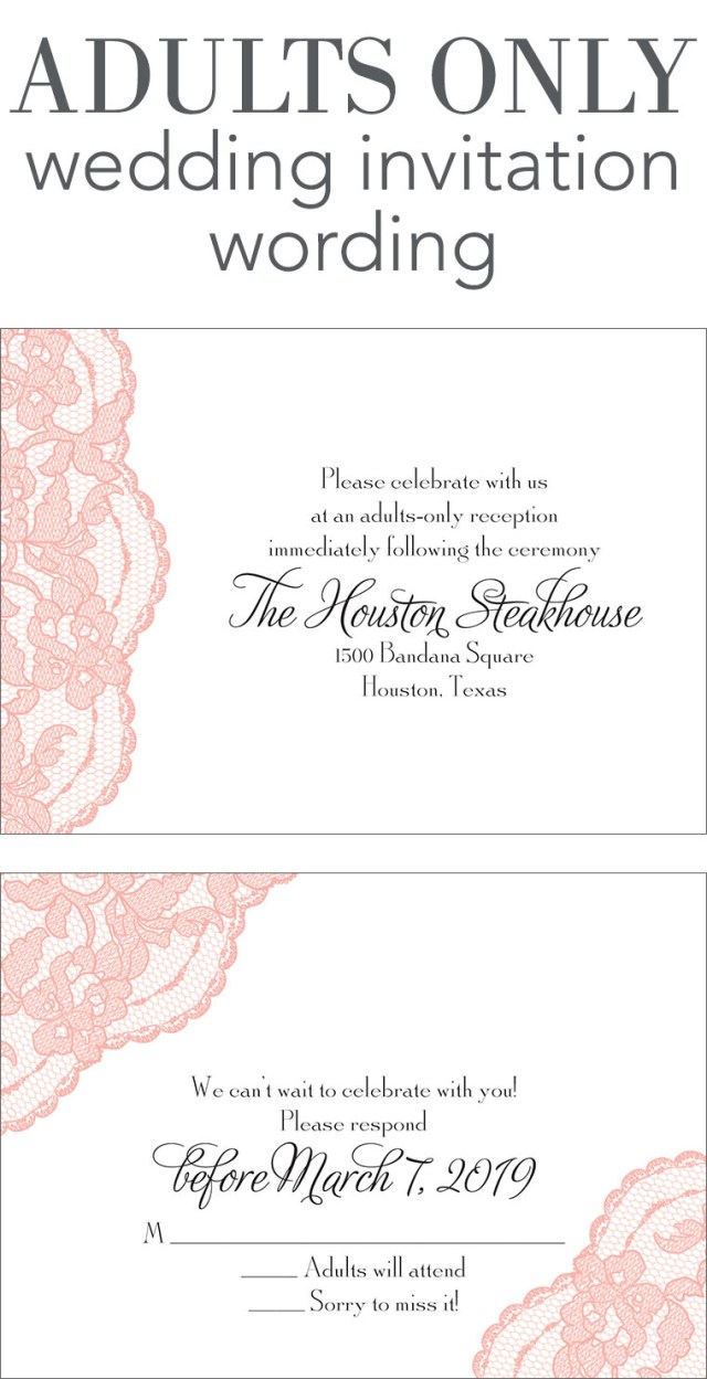 Wedding Invitation Wording Samples Adults Only Wedding Invitation Wording Invitations Dawn