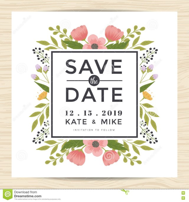 Wedding Invitations And Save The Dates Save The Date Wedding Invitation Card Template With Hand Drawn
