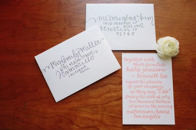 Wedding Invitations Envelopes Diy Wedding Envelope Addressing Tips Julep