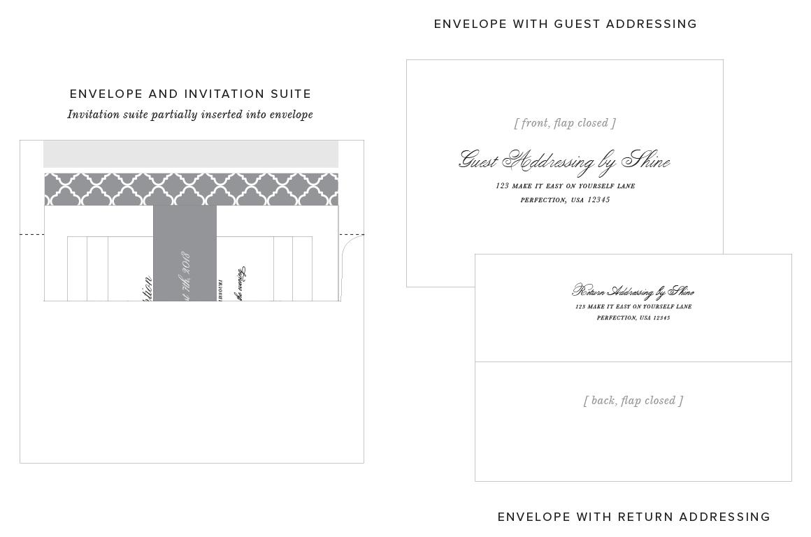 Wedding Invitations Envelopes Guest Addressing For Your Wedding Invitations Shine Wedding