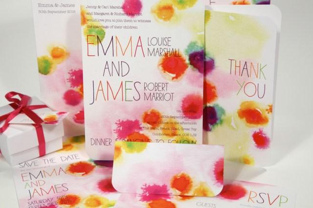 Wedding Invitations Essex Colourful Bright Wedding Invitations Luxury Wedding Invitations