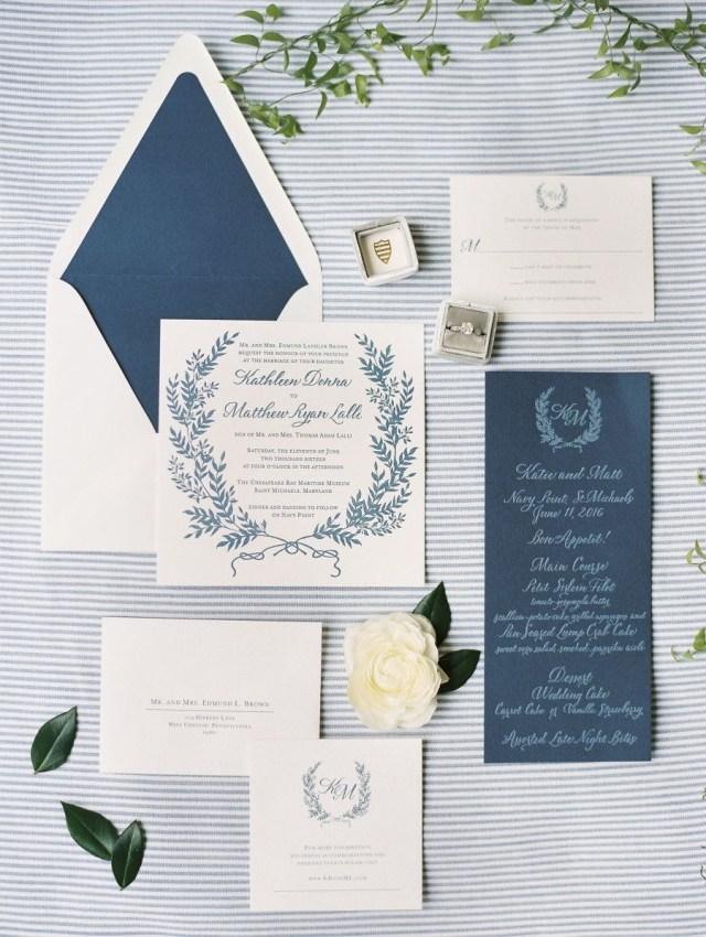 Wedding Invitations Essex La Tavola Fine Linen Rental Essex French Blue Photography Krista