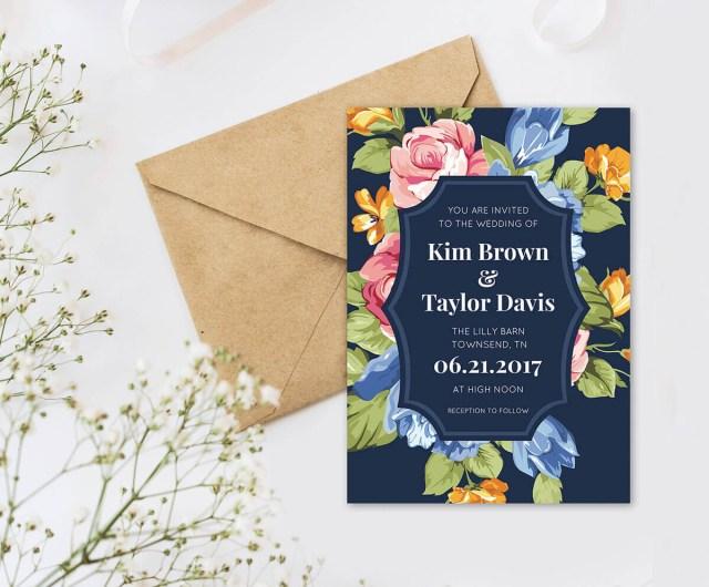 Wedding Invitations With Photos Wedding Invitation Wording Picmonkey