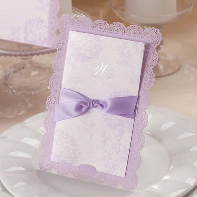 Wedding Invitations With Purple Ribbon Usd 538 Only The United States And European Wedding Invitations
