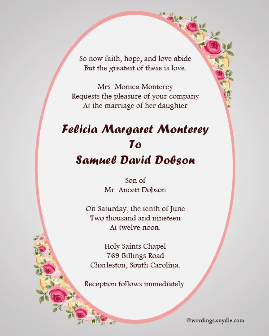 Wedding Invitations Wording Samples 30 Concept Christian Wedding Invitation Wording Outstanding Co
