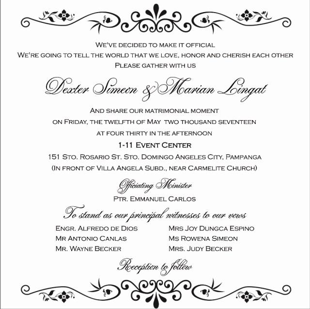 Wedding Invitations Wording Samples Wedding Invitation Wording Samples Theinvitationco