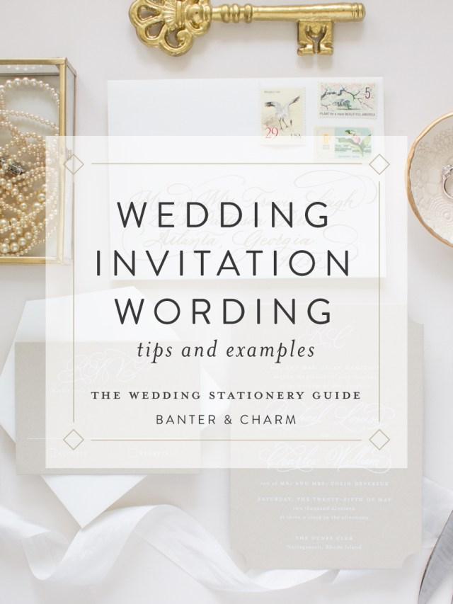 Wedding Invitations Wording Samples Wedding Stationery Guide Wedding Invitation Wording Samples