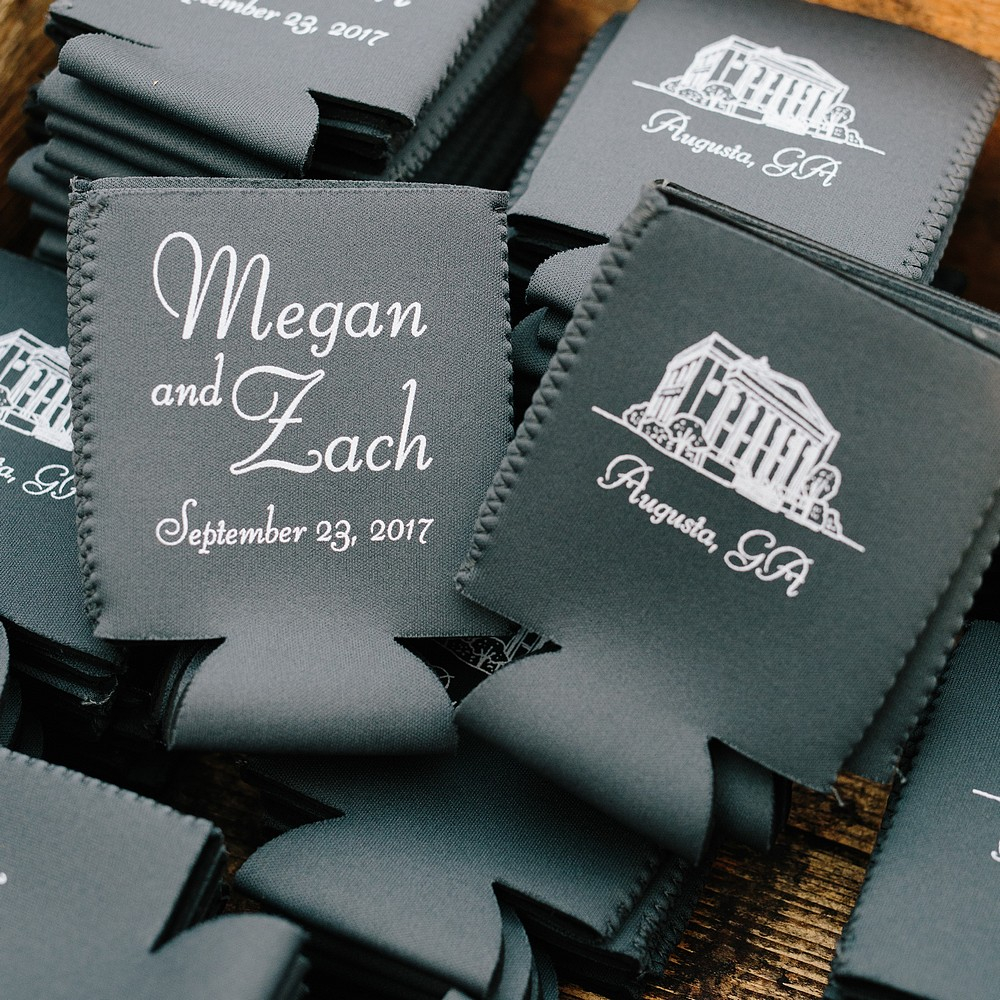 Wedding Koozie Ideas Premium Neoprene Can Coolers Personalized My Wedding Reception Ideas